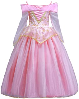 ELSA & ANNA® Princesa Disfraz Traje Parte Las Niñas Vestido Sleeping Beauty Vestido Aurora Vestido (Girls Princess Fancy Dress) ES-SLP01 (2-3 Años- Rosado)