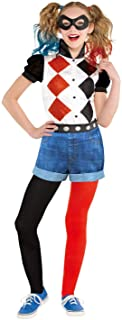 GIRLS CLASSIC HARLEY QUINN COSTUME - MEDIUM (6 - 8 YEARS)