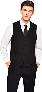 find. Stretch Slim Fit- Chaleco para Hombre- Negro (Black Black)- Large