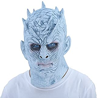 thematys® Noche de König Night King Máscara Blanco Wanderer Game of Thrones – Perfecto para Carnaval- & Halloween – Disfraz para Adultos – Látex- Talla única Unisex